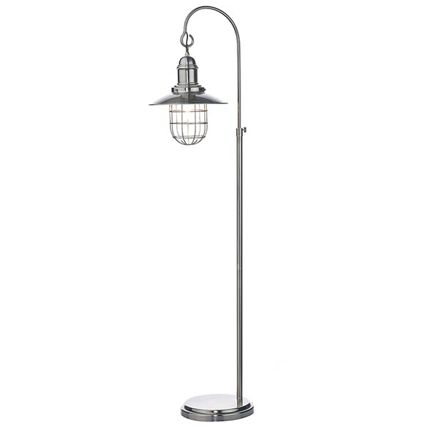 Exceptional DHTER4961 TERRACE FL ANTIQUE CHROME FLOOR LAMP LANTERN