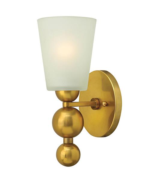 ELHKZELDA1 VS WALL LIGHT VINTAGE BRASS YELLOW GOLD FROSTED GLASS LIGHT DUBLIN IRELAND BUY LIGHTING