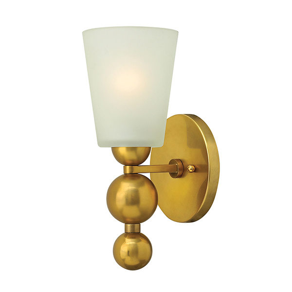 ELHKZELDA1 VS WALL LIGHT VINTAGE BRASS YELLOW GOLD FROSTED GLASS LIGHT DUBLIN IRELAND BUY LIGHTING