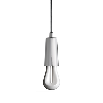 Plumen Drop Cap Chrome cord lighting pendant lighting with plumen bulb designer bulbs dublin ireland buy lighting online 1.2