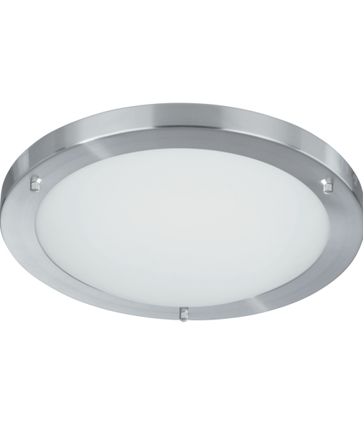 St10633ss stainless steel flush ceiling fitting national lighting for Stainless steel bathroom lights