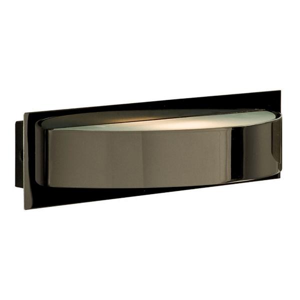 Half Wall Lights : ST2692BC BLACK CHROME HALF CIRCULAR WALL LIGHT (Lamp included) - National Lighting