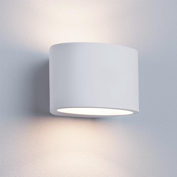st8721-g9-oval-white-plaster-wall-light-dublin-lighting-shops-showrooms-ireland