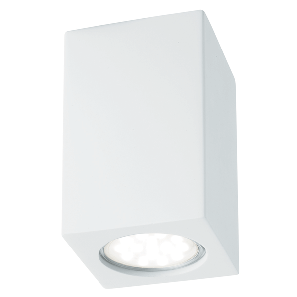 Bathroom Lighting Europe st9262 gypsum rectangle gu10 wall light - national lighting