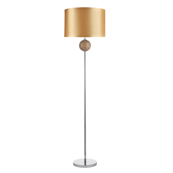 St2516cp mosaic ball floor lamp champagne national lighting for Floor lamp mosaic wood