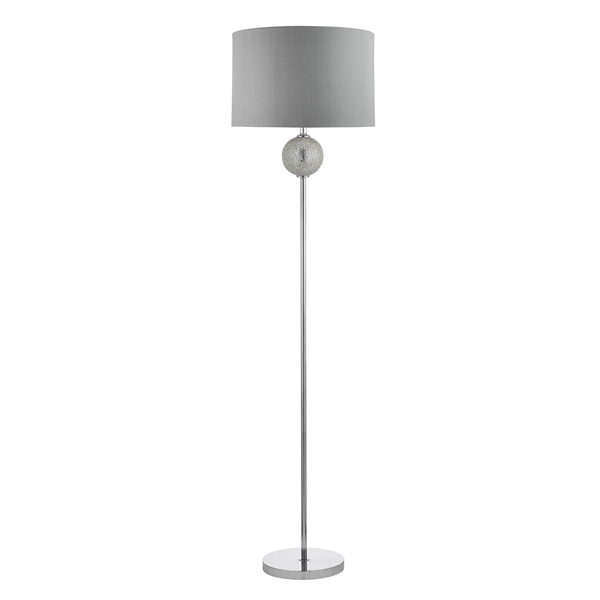 St2516si mosaic ball floor lamp silver national lighting for Silver mosaic floor lamp