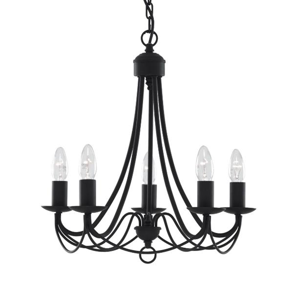 st6345-5bk-maypole-5-light-fitting-black