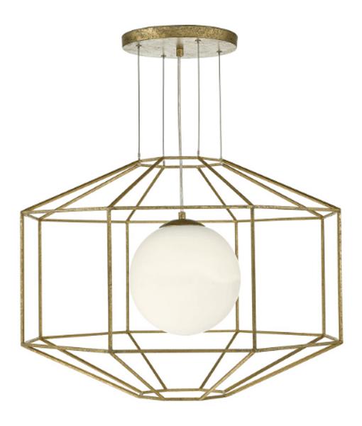 DHIZM0135-Izmir-1-Light-Pendant-Hexagonal-Old-Gold-Frame-Opal-Glass