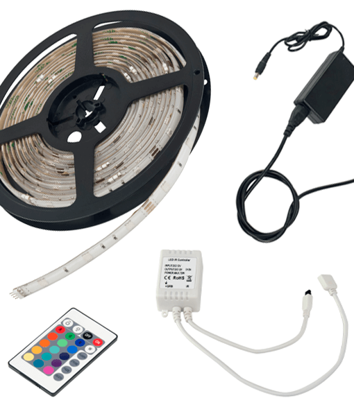 R5KSIK-RGB-COLOURING-CHANGING-STRIP-LIGHTS-KIT-INCLUDING-DRIVER-AND-INFRA-RED-RECEIVER