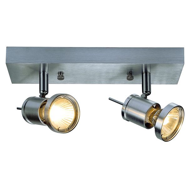 Nl 147442 asto 2 bar wall ceiling fitting national lighting nl 147442 2 light bar aluminium ceiling light mozeypictures Image collections