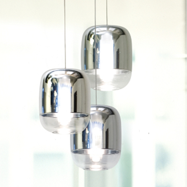 Gong mini pendant chrome white large pendant national