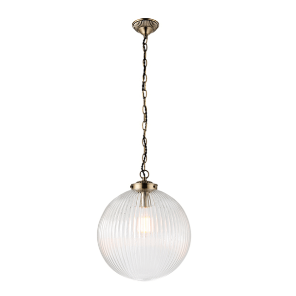 sg71124-brydon-1lt-pendant-clear-ribbon-glass-national-lighting-dublin-ireland