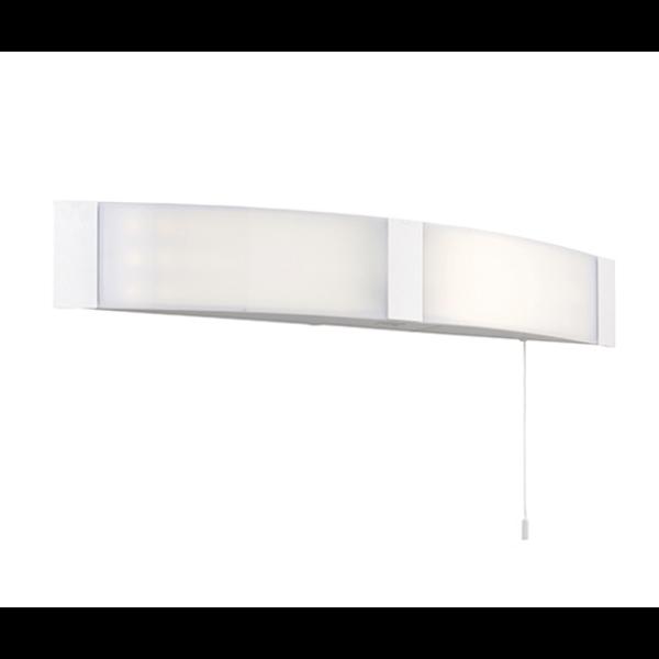 SG70443 ONAN SHAVER IP44 COOL WHITE WALL LIGHT WHITE FINISH - National Lighting