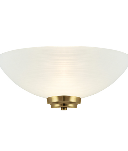 SGWELLES-1WBAB 1 LIGHT WALL LIGHT IN ANTIQUE BRASS WITH FROSTED GLASS SHADE - National Lighting