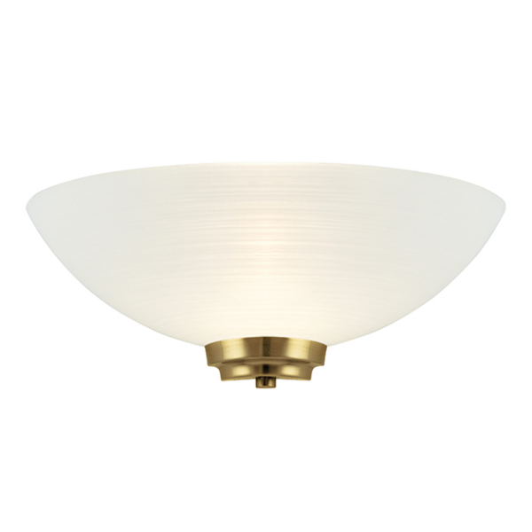 Brass Wall Lights With Shades : SGWELLES-1WBAB 1 LIGHT WALL LIGHT IN ANTIQUE BRASS WITH FROSTED GLASS SHADE - National Lighting