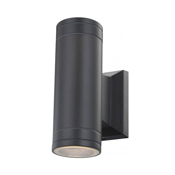 Glo32028 2 Gantar Outdoor Wall Light Black Gu10