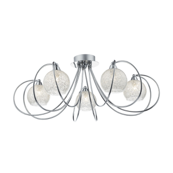 DHRAF5450-RAFFERTY 5LT SEMI FLUSH POL CHR-NATIONAL-LIGHTING-DUBLIN-IRELAND-PENDANTS