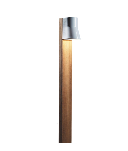 BCN140W-BEACON-TEAK-140CM-WHITE-PROCELAIN-BOLLARD-NATIONAL-LIGHTING-DUBLIN-IRELAND-NOT-INSITU