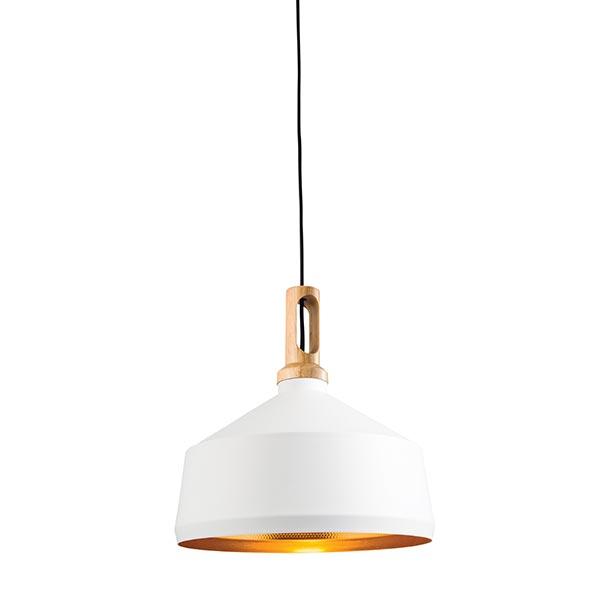 designer fashion e7f15 e0b2c SG61352-Matt-white-paint-&-light-wood-WHITE-COPPER-INSIDE ...