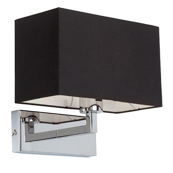 SG96750-CH-CHROME-WALL-BRACKET-COMPLETE-WITH-BLACK-SHADE-NATIONAL-LIGHTING-SHOWROOMS-DUBLIN