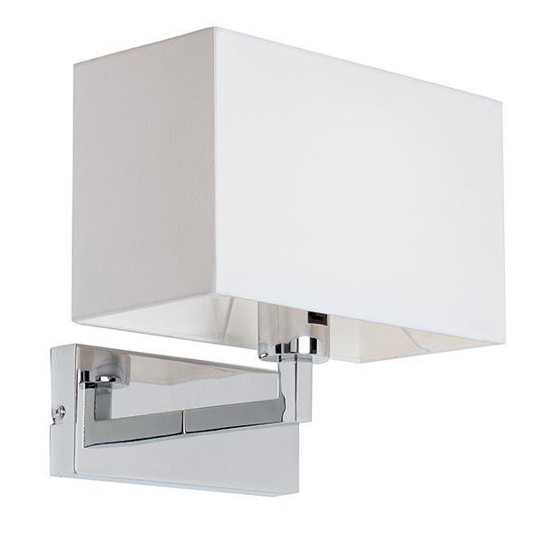 SG96751-CH-CHROME-WALL-BRACKET-COMPLETE-WITH-WHITE-SHADE