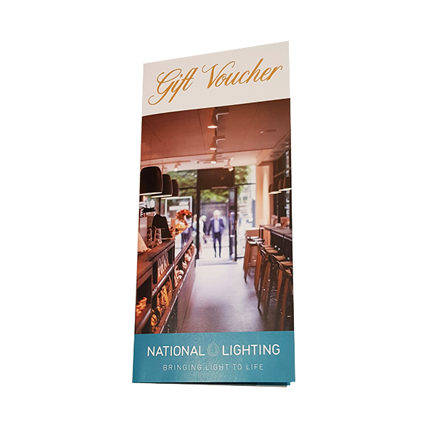 National Lighting gift vouchers for new home, wedding or buying a new house-small white bg