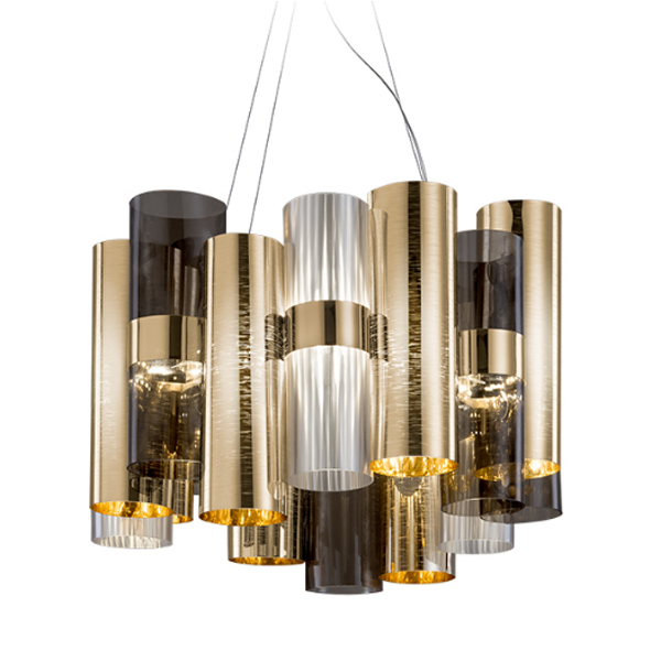 SPLAL87SOS0000OF000 LA LOLLO GOLD FUME PENDANT Slamp_La-Lollo_Susp_Gold_Bozzoli_onblack1