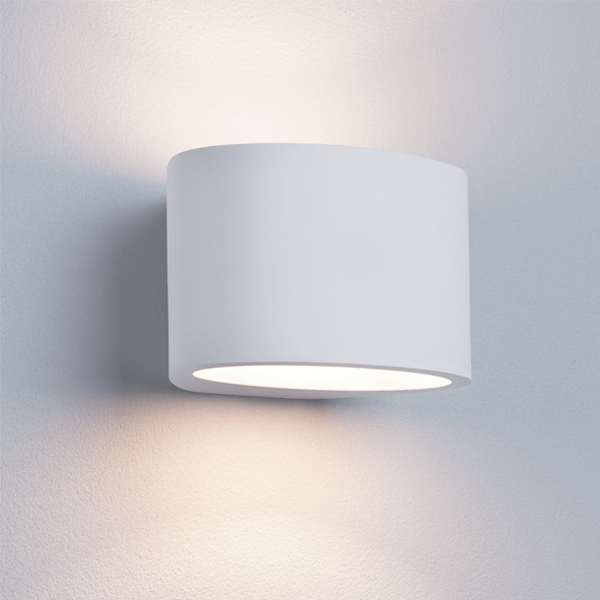 st8721-g9-oval-white-plaster-wall-light-dublin-lighting-shops-showrooms-ireland