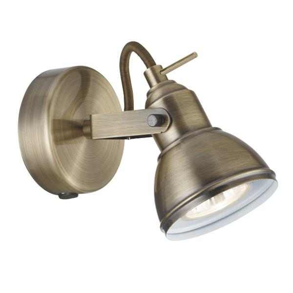 St1541ab industrial 1 lt antique brass spotlight national lighting st1541ab industrial 1 lt antique brass spotlight mozeypictures Gallery