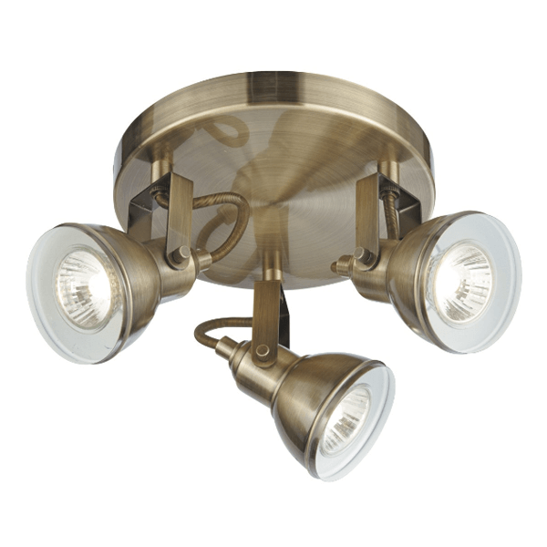 st1543ab industrial 3 light antique brass spotlight plate national