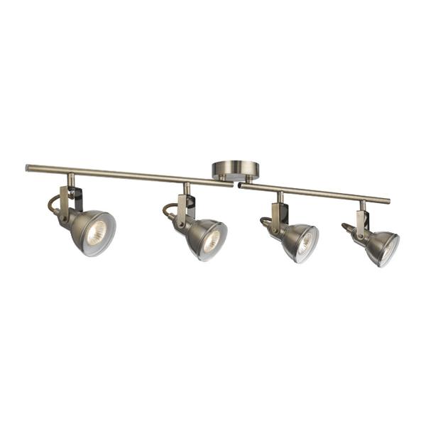 St1544ab industrial 4 light antique brass split bar spotlight st1544ab industrial 4 light antique brass split bar mozeypictures Choice Image