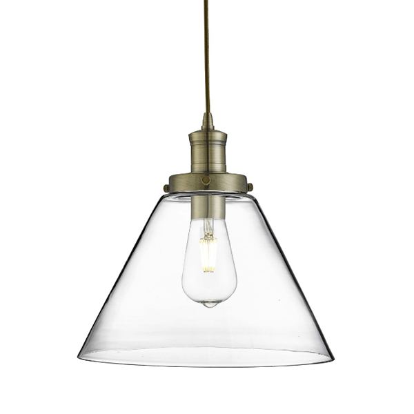st3228ab-pyramid-1-light-pendant-antique-brass-clear-pyramid-glass-shade