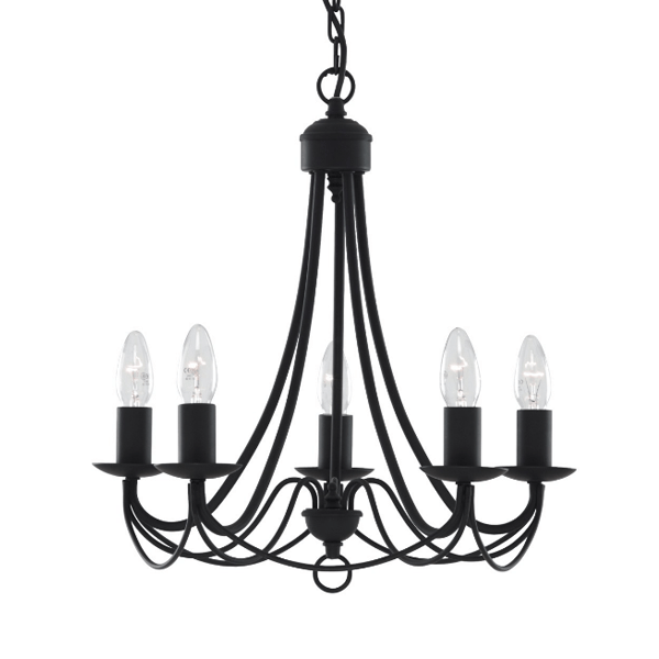 st6345-5bk-maypole-5-light-fitting-black