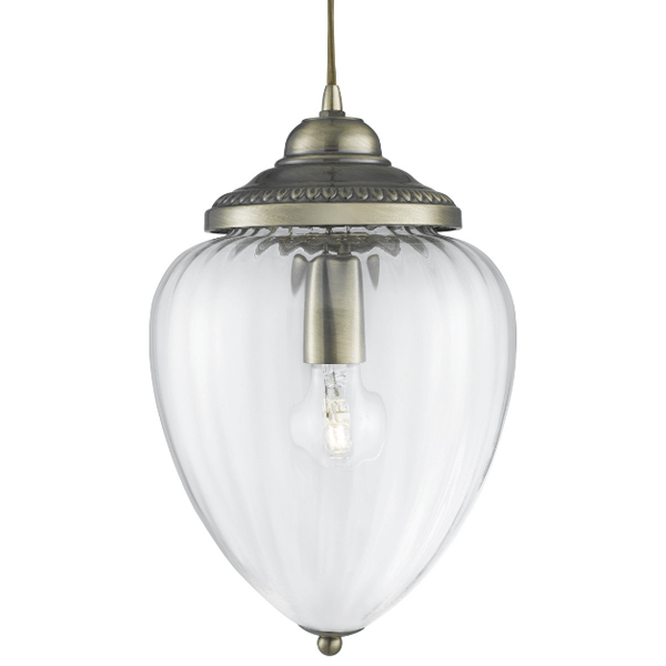 ST1091AB-1LT-CLEAR-RIBBED-GLASS-LANTERN