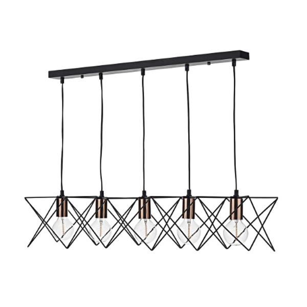 dhmid0522-midi-5light-bar-pendant-black-and-copper-cage-light-national-lighting-dublin