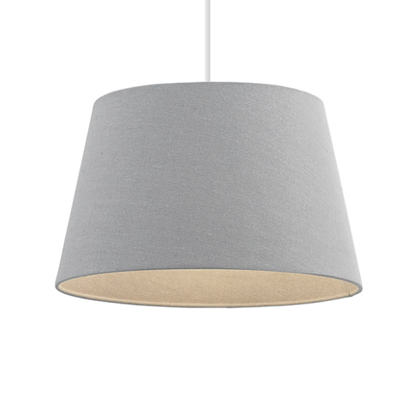 sgcici-16gry-16inch-grey-shade-tapered-linen-self-lined-shade-national-lighting-dublin