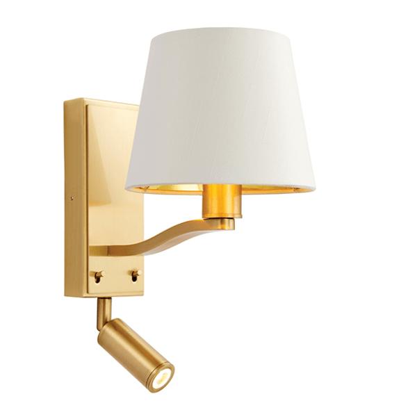 sg69092-harvey-1lt-wall-and-spot-brushed-gold-national-lighting-dublin-ireland