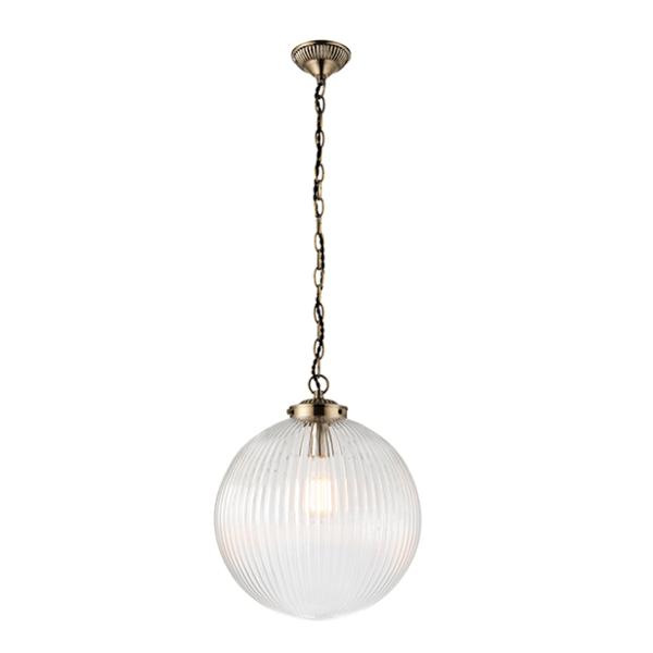 sg71124-brydon-1lt-pendant-clear-ribbon-glass-national-lighting-dublin-ireland