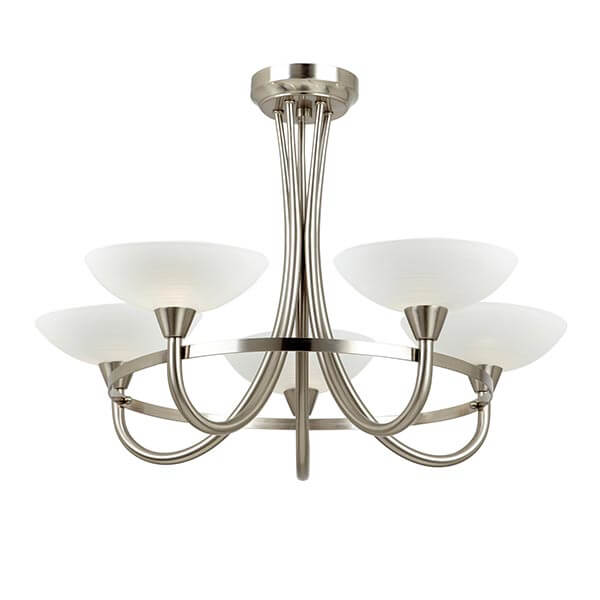 Sgcagney 5sc Satin Chrome 5 Light Fitting National Lighting