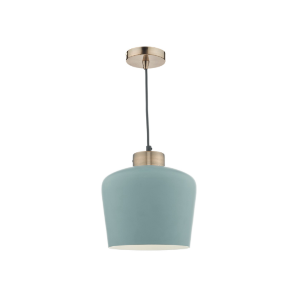 DHSUL0123-SULLIVAN 1LT PENDANT BLUE GREY-COPPER-NATIONAL-LIGHTING-DUBLIN-IRELAND-PENDANTS