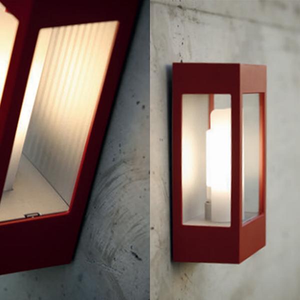 Outdoor Post Lights Ireland: RP108001110 BRICK OUTDOOR WALL LIGHT TOMATO RED