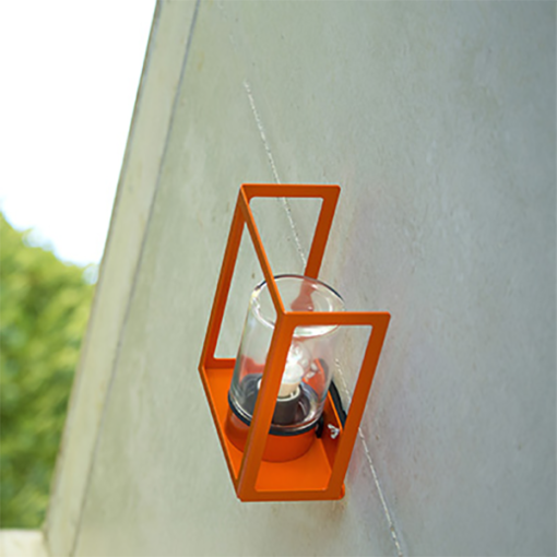 RP125001014 HUGY OUTDOOR WALL PURE ORANGE ROGER PRADIER NATIONAL LIGHTING DUBLIN IRELAND OUTDOOR LIGHTING COLOURED