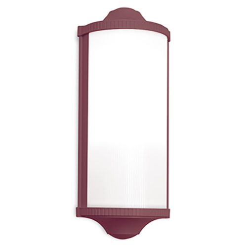 RP161003066 TROPHY OUTDOOR WALL WINE RED ROGER PRADIER NATIONAL LIGHTING DUBLIN IRELAND OUTDOOR LIGHTING COLOURED